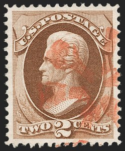 Sale Number 1219, Lot Number 353, 1870-71 National Bank Note Co. Ungrilled Issue (Scott 145-155)2c Red Brown (146), 2c Red Brown (146)
