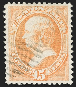 Sale Number 1219, Lot Number 362, 1870-71 National Bank Note Co. Ungrilled Issue (Scott 145-155)15c Bright Orange (152), 15c Bright Orange (152)