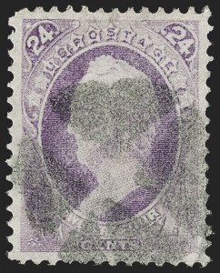 Sale Number 1219, Lot Number 363, 1870-71 National Bank Note Co. Ungrilled Issue (Scott 145-155)24c Purple (153), 24c Purple (153)