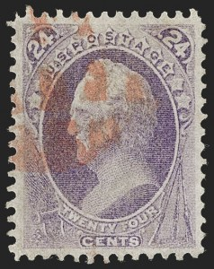 Sale Number 1219, Lot Number 364, 1870-71 National Bank Note Co. Ungrilled Issue (Scott 145-155)24c Purple (153), 24c Purple (153)