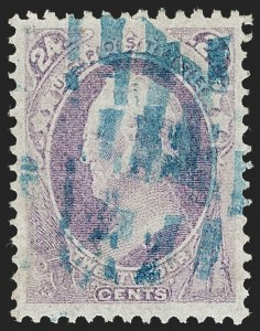 Sale Number 1219, Lot Number 365, 1870-71 National Bank Note Co. Ungrilled Issue (Scott 145-155)24c Purple (153), 24c Purple (153)