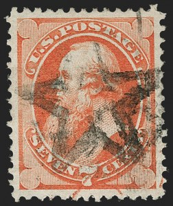 Sale Number 1219, Lot Number 373, 1873 Continental Bank Note Co. Issue (Scott 156-179)7c Orange Vermilion (160), 7c Orange Vermilion (160)