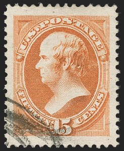 Sale Number 1219, Lot Number 389, 1879 American Bank Note Co. Issue (Scott 182-191)15c Red Orange (189), 15c Red Orange (189)