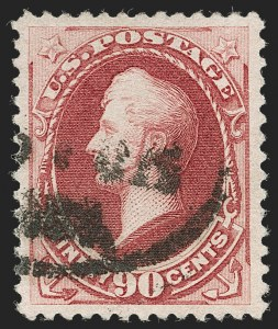 Sale Number 1219, Lot Number 391, 1879 American Bank Note Co. Issue (Scott 182-191)90c Carmine (191), 90c Carmine (191)