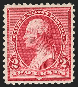 "Sale Number 1219, Lot Number 411, 1890-93 Issue (Scott 219-229)2c Carmine, Cap on Both ""2""'s (220c), 2c Carmine, Cap on Both ""2""'s (220c)"