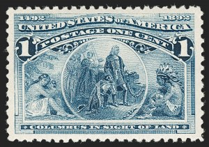 Sale Number 1219, Lot Number 421, 1893 Columbian Issue (Scott 230-245)1c Columbian (230), 1c Columbian (230)