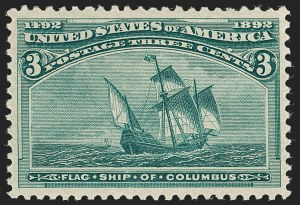 Sale Number 1219, Lot Number 423, 1893 Columbian Issue (Scott 230-245)3c Columbian (232), 3c Columbian (232)