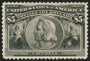 Sale Number 1219, Lot Number 441, 1893 Columbian Issue (Scott 230-245)$5.00 Columbian (245), $5.00 Columbian (245)