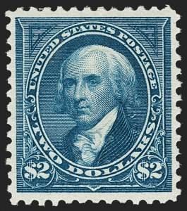 Sale Number 1219, Lot Number 457, 1894 Unwatermarked Bureau Issue (Scott 246-263)$2.00 Bright Blue (262), $2.00 Bright Blue (262)