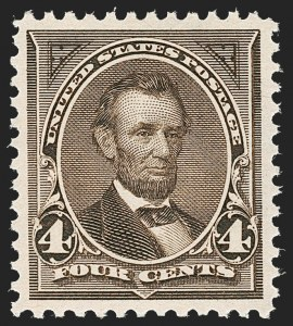 Sale Number 1219, Lot Number 462, 1895 Watermarked Bureau Issue (Scott 264-278)4c Dark Brown (269), 4c Dark Brown (269)
