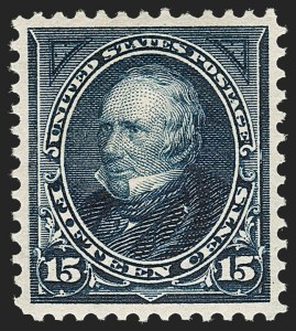 Sale Number 1219, Lot Number 466, 1895 Watermarked Bureau Issue (Scott 264-278)15c Dark Blue (274), 15c Dark Blue (274)