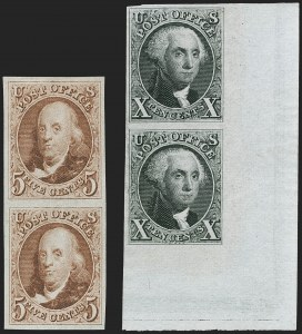 Sale Number 1219, Lot Number 48, 1875 Reproduction of 1847 Issue (Scott 3-4)5c Red Brown, 10c Black, Reproductions (3, 4), 5c Red Brown, 10c Black, Reproductions (3, 4)