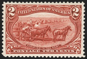 Sale Number 1219, Lot Number 483, 1898 Trans-Mississippi Issue (Scott 285-293)2c Trans-Mississippi (286), 2c Trans-Mississippi (286)