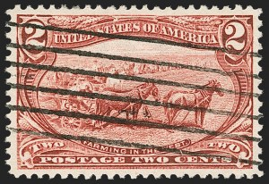 Sale Number 1219, Lot Number 484, 1898 Trans-Mississippi Issue (Scott 285-293)2c Trans-Mississippi (286), 2c Trans-Mississippi (286)
