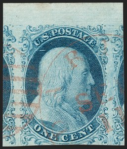 Sale Number 1219, Lot Number 49, 1c 1851 Issue (Scott 5-9)1c Blue, Ty. I (5), 1c Blue, Ty. I (5)