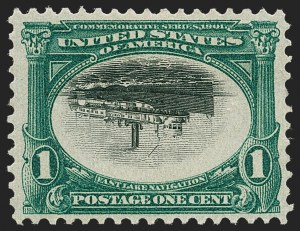 Sale Number 1219, Lot Number 501, 1901 Pan-American Issue (Scott 294-299)1c Pan-American, Center Inverted (294a), 1c Pan-American, Center Inverted (294a)