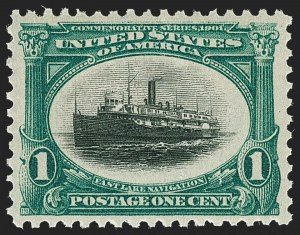 Sale Number 1219, Lot Number 502, 1901 Pan-American Issue (Scott 294-299)1c Pan-American (294), 1c Pan-American (294)