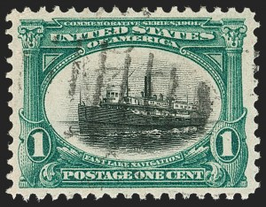Sale Number 1219, Lot Number 503, 1901 Pan-American Issue (Scott 294-299)1c Pan-American (294), 1c Pan-American (294)