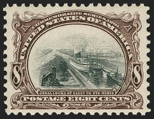 Sale Number 1219, Lot Number 509, 1901 Pan-American Issue (Scott 294-299)8c Pan-American (298), 8c Pan-American (298)