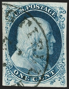 Sale Number 1219, Lot Number 51, 1c 1851 Issue (Scott 5-9)1c Blue, Ty. Ia (6), 1c Blue, Ty. Ia (6)