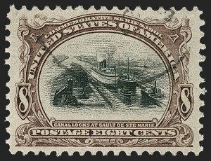 Sale Number 1219, Lot Number 510, 1901 Pan-American Issue (Scott 294-299)8c Pan-American (298), 8c Pan-American (298)