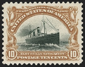Sale Number 1219, Lot Number 511, 1901 Pan-American Issue (Scott 294-299)10c Pan-American (299), 10c Pan-American (299)