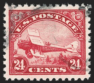 Sale Number 1219, Lot Number 525, Air Post24c Carmine, 1923 Air Post (C6), 24c Carmine, 1923 Air Post (C6)