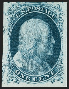 Sale Number 1219, Lot Number 53, 1c 1851 Issue (Scott 5-9)1c Blue, Ty. II (7), 1c Blue, Ty. II (7)