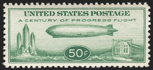 Sale Number 1219, Lot Number 544, Air Post50c Chicago Zeppelin (C18), 50c Chicago Zeppelin (C18)