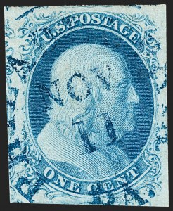Sale Number 1219, Lot Number 56, 1c 1851 Issue (Scott 5-9)1c Blue, Ty. IIIa (8A), 1c Blue, Ty. IIIa (8A)