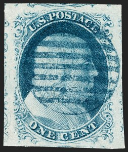 Sale Number 1219, Lot Number 58, 1c 1851 Issue (Scott 5-9)1c Blue, Ty. IV (9), 1c Blue, Ty. IV (9)