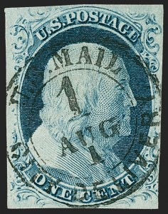Sale Number 1219, Lot Number 61, 1c 1851 Issue (Scott 5-9)1c Blue, Ty. IV (9), 1c Blue, Ty. IV (9)