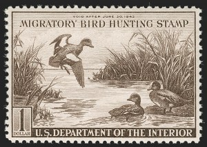 Sale Number 1219, Lot Number 617, Hunting Permits$1.00-$3.00 1940-59 Hunting Permits (RW7-RW26), $1.00-$3.00 1940-59 Hunting Permits (RW7-RW26)