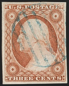 Sale Number 1219, Lot Number 63, 3c 1851 Issue (Scott 10-11A)3c Orange Brown, Ty. II (10A), 3c Orange Brown, Ty. II (10A)