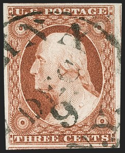 Sale Number 1219, Lot Number 64, 3c 1851 Issue (Scott 10-11A)3c Orange Brown, Ty. II (10A), 3c Orange Brown, Ty. II (10A)