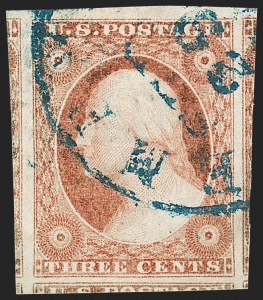 Sale Number 1219, Lot Number 67, 3c 1851 Issue (Scott 10-11A)3c Brownish Carmine, Ty. II (11A), 3c Brownish Carmine, Ty. II (11A)