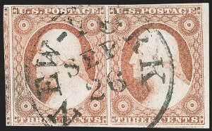 Sale Number 1219, Lot Number 68, 3c 1851 Issue (Scott 10-11A)3c Dull Red, Ty. II (11A), 3c Dull Red, Ty. II (11A)