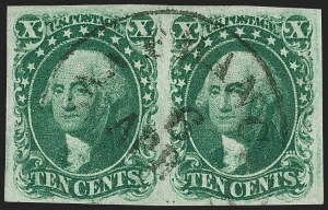 Sale Number 1219, Lot Number 77, 5c-12c 1851-56 Issue (Scott 12-17)10c Green, Ty. I (13), 10c Green, Ty. I (13)