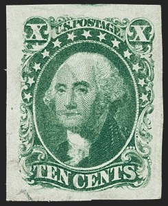 Sale Number 1219, Lot Number 78, 5c-12c 1851-56 Issue (Scott 12-17)10c Green, Ty. II (14), 10c Green, Ty. II (14)
