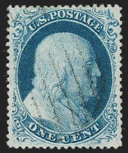 Sale Number 1219, Lot Number 92, 1c 1857-60 Issue (Scott 18-24)1c Blue, Ty. IIIa (22), 1c Blue, Ty. IIIa (22)