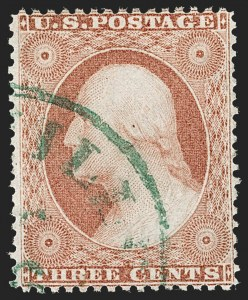 Sale Number 1219, Lot Number 96, 3c 1857-60 Issue (Scott 25-26A)3c Rose Red, Ty. I (25), 3c Rose Red, Ty. I (25)