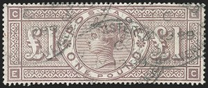 Sale Number 1220, Lot Number 10, Great BritainGREAT BRITAIN, 1888, £1 Brown Violet (123; SG 186), GREAT BRITAIN, 1888, £1 Brown Violet (123; SG 186)