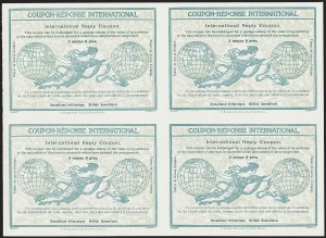 Sale Number 1220, Lot Number 114, St. Lucia thru South West AfricaSOMALILAND PROTECTORATE, 1906, 2a9p International Reply Coupon, SOMALILAND PROTECTORATE, 1906, 2a9p International Reply Coupon