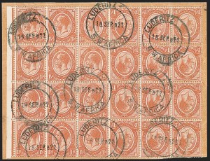 Sale Number 1220, Lot Number 116, St. Lucia thru South West AfricaSOUTH WEST AFRICA, South Africa, 1920, 1-1/2p Brown Orange, Tete-Beche Pair (4a; SG 5a), SOUTH WEST AFRICA, South Africa, 1920, 1-1/2p Brown Orange, Tete-Beche Pair (4a; SG 5a)