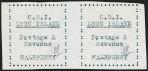 Sale Number 1220, Lot Number 195, Long Island - Thin Wove Paper Issue (SG 23-36)LONG ISLAND, 1916, -1/2p Black on Thin Wove Paper (SG 23), LONG ISLAND, 1916, -1/2p Black on Thin Wove Paper (SG 23)