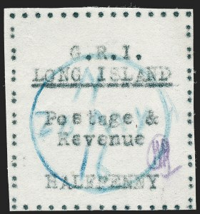 Sale Number 1220, Lot Number 196, Long Island - Thin Wove Paper Issue (SG 23-36)LONG ISLAND, 1916, -1/2p Black on Thin Wove Paper (SG 23), LONG ISLAND, 1916, -1/2p Black on Thin Wove Paper (SG 23)
