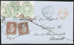 Sale Number 1220, Lot Number 2, Great BritainGREAT BRITAIN, 1847, 1sh Pale Green, Embossed (5; SG 54), GREAT BRITAIN, 1847, 1sh Pale Green, Embossed (5; SG 54)