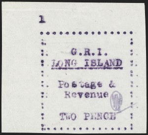Sale Number 1220, Lot Number 205, Long Island - Thin Wove Paper Issue (SG 23-36)LONG ISLAND, 1916, 2p Mauve on Thin Wove Paper (SG 31), LONG ISLAND, 1916, 2p Mauve on Thin Wove Paper (SG 31)