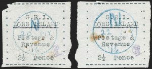 Sale Number 1220, Lot Number 210, Long Island - Thin Wove Paper Issue (SG 23-36)LONG ISLAND, 1916, 2-1/2p Black on Thin Wove Paper (SG 32), LONG ISLAND, 1916, 2-1/2p Black on Thin Wove Paper (SG 32)
