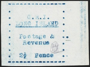 Sale Number 1220, Lot Number 212, Long Island - Thin Wove Paper Issue (SG 23-36)LONG ISLAND, 1916, 2-1/2p Blue on Thin Wove Paper (SG 33), LONG ISLAND, 1916, 2-1/2p Blue on Thin Wove Paper (SG 33)